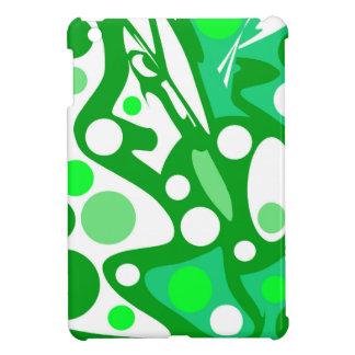 Weißer und grüner Dekor iPad Mini Hülle