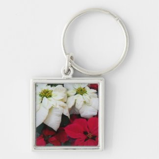 Weißer und roter Weihnachtsfeiertag der Schlüsselanhänger