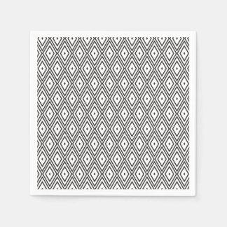 Weißer und schwarzer Diamant-Servietten Papierservietten