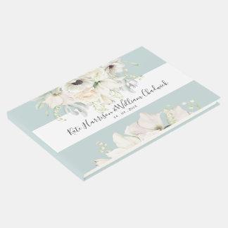Weißer Vintager BlumenhochzeitGuestbook Gästebuch