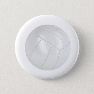 Weißer Volleyballball Runder Button 5,1 Cm