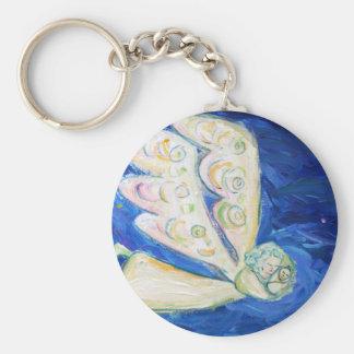 Weißer Wächter-Baby-Engels-Kunst-Charme Keychains Schlüsselanhänger