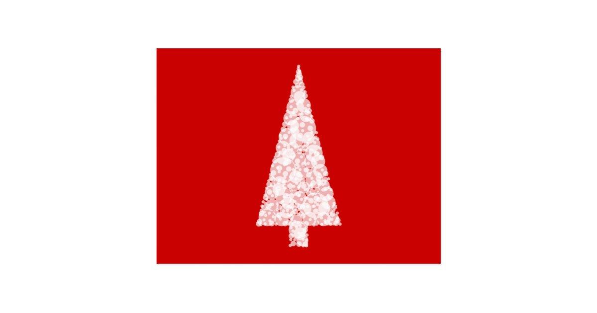 wei er weihnachtsbaum auf rot modern postkarte zazzle. Black Bedroom Furniture Sets. Home Design Ideas