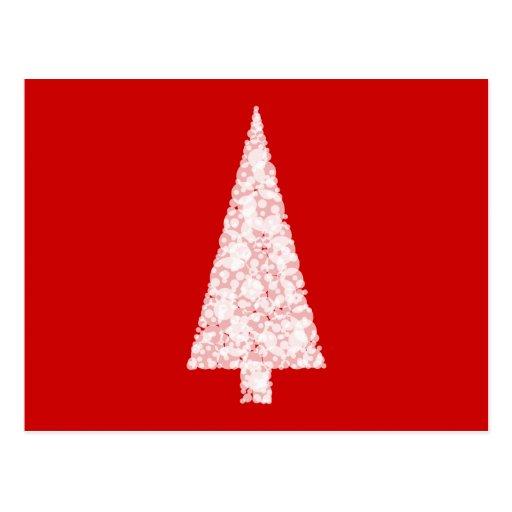 wei er weihnachtsbaum auf rot modern postkarten zazzle. Black Bedroom Furniture Sets. Home Design Ideas