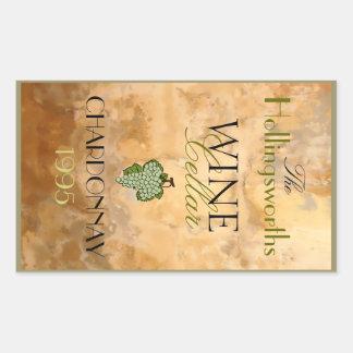 Weißer Wein-Flaschen-Aufkleber