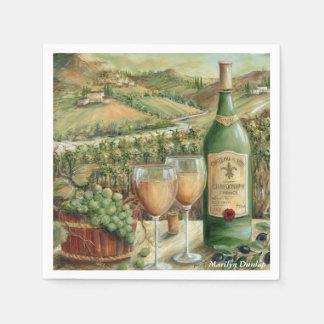 Weißer Wein-Liebhaber Papierserviette