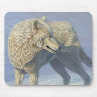 """Weißer Wolf """"arktisches Anstarren"""" 2 - Mousepad"""