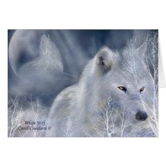 Weißer Wolf ArtCard Grußkarte