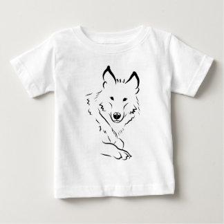 Weißer Wolf Baby T-shirt