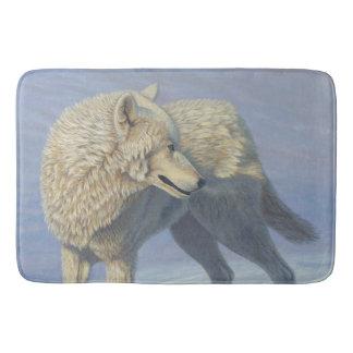 Weißer Wolf - Badematte