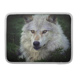 Weißer Wolf-grauer Wolf-wildes Tier-MacBook-Kasten Sleeve Für MacBooks