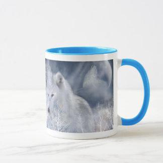 Weißer Wolf-Tasse Tasse