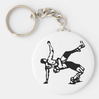Weißer Wrestling Schlüsselanhänger