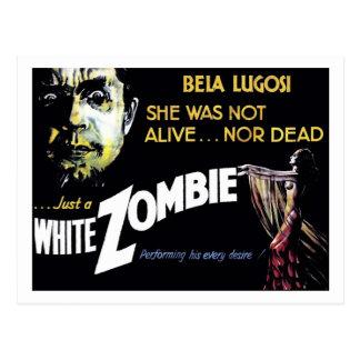 """""""Weißer Zombie-"""" Postkarte"""