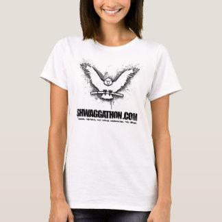 Weißes Adler-Damen-Shirt (Gelb) T-Shirt