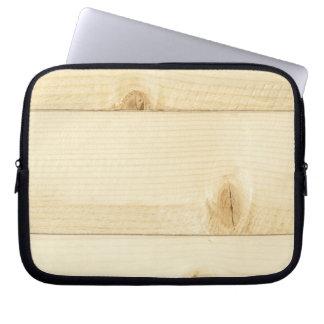 Weißes altes Eichenholzmuster Laptopschutzhülle
