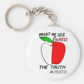Weißes Apple Schlüsselanhänger