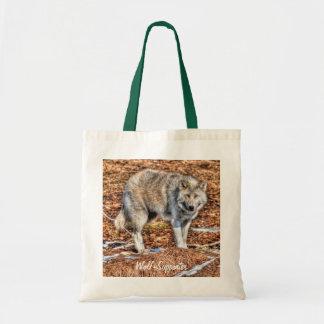 Weißes arktisches Wolf-u. Wildnis-Foto-Geschenk Tragetasche