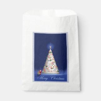Weißes Baum-Weihnachten Geschenktütchen