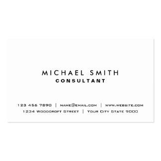 Weißes berufliches einfaches elegantes modernes visitenkarten