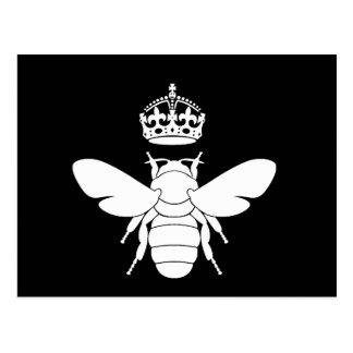 Weißes Bienenkönigin-Logo… sind Sie eine Postkarte