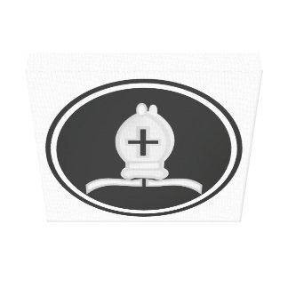 Weißes Bischofs-Schach Gespannte Galeriedrucke