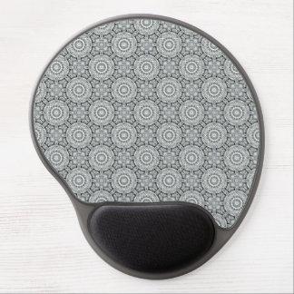 Weißes Blatt-Vintages Kaleidoskop-Gel Mousepad
