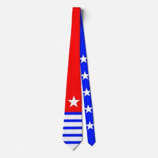 Weißes Blau der Sterne u. der Streifen + Ihr Personalisierte Krawatten