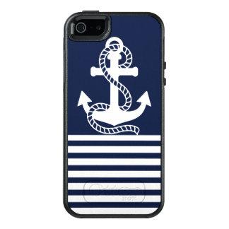 Weißes blaues Anker OtterBox nautischiPhone OtterBox iPhone 5/5s/SE Hülle