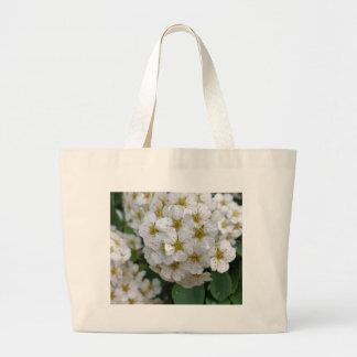 Weißes Blumenglühen Jumbo Stoffbeutel