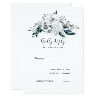 Weißes Blumenhochzeit UAWG Karte