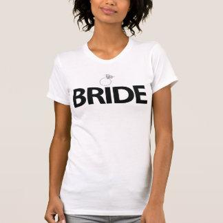 Weißes Braut-Shirt mit Ring für T-Shirt