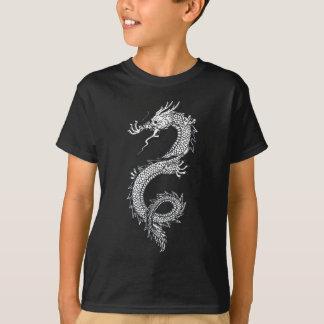 Weißes chinesisches Drache-Shirt T-Shirt