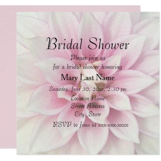 Weißes Dahlie-Brautparty laden ein Karte