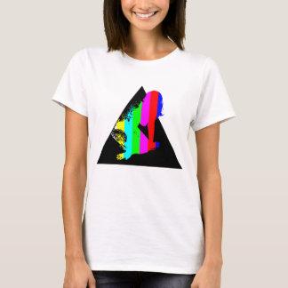 Weißes Dreieck-Farbfilm-Mädchen T-Shirt