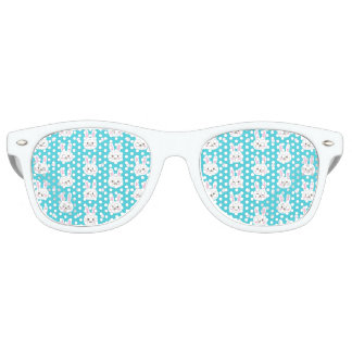 Weißes einfaches Muster Osterhasen des niedlichen Sonnenbrille