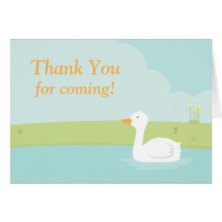 Weißes Enten-Party danken Ihnen Anmerkungs-Karte Mitteilungskarte
