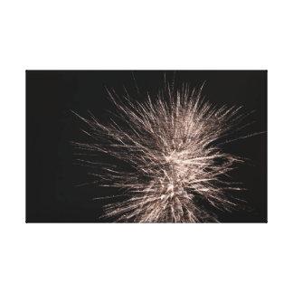 Weißes Feuerwerk Leinwanddruck