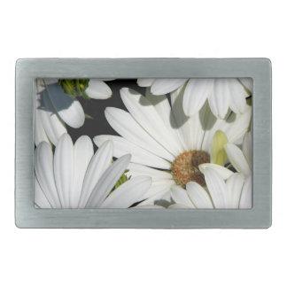Weißes Gänseblümchen-Blumen Rechteckige Gürtelschnalle