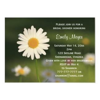 Weißes Gänseblümchen-Blumen-Wedding Brautparty 11,4 X 15,9 Cm Einladungskarte