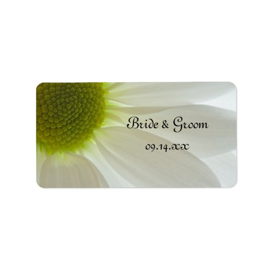 Weißes Gänseblümchen-Blumenblatt-Gastgeschenk Adress Aufkleber
