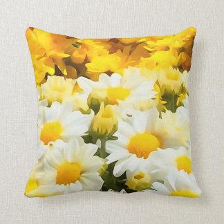 Weißes Gänseblümchen-Blumethrow-Kissen Zierkissen
