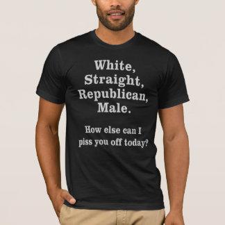 Weißes gerades republikanisches männliches T-Stück T-Shirt