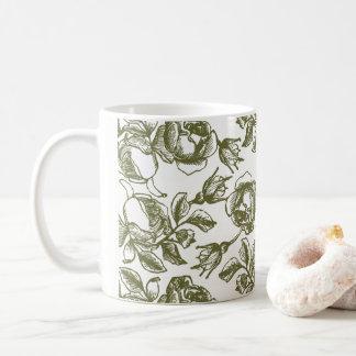 Weißes GoldRosen-Radierungs-Kaffee-Tasse Kaffeetasse