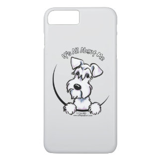 Weißes Grau des Schnauzer-IAAM iPhone 7 Plus Hülle