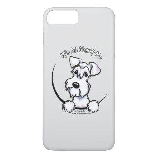 Weißes Grau des Schnauzer-IAAM iPhone 8 Plus/7 Plus Hülle