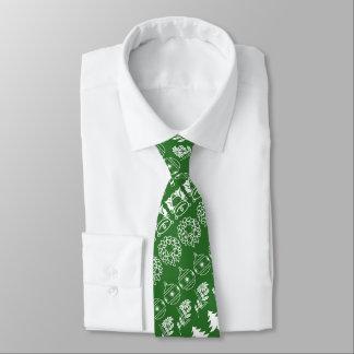 Weißes/grünes Personalisierte Krawatte