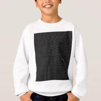 Weißes Halbtongitter Sweatshirt