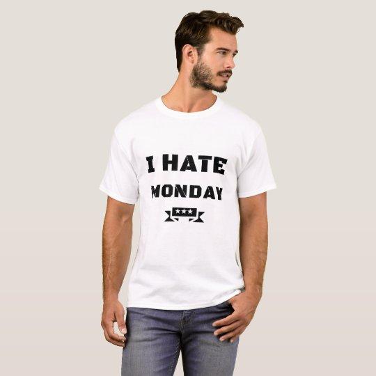 "weisses Herren kurzarm T-Shirt ""I HATE MONDAY"""