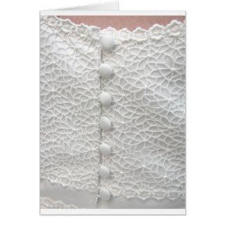 Weißes Hochzeits-Kleid - kundengerecht Grußkarte